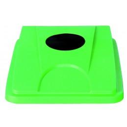 """Couvercle """"bouteille-gobelet-cannette"""" vert pour collecteur tri selectif 60 et 80 L"""