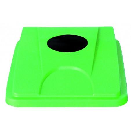 """Couvercle """"bouteille-gobelet-cannette"""" vert ou bleu pour collecteur tri selectif 60 et 80 L"""
