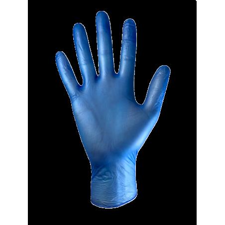 Boîte de 100 gants VINYLE non poudré - sans latex - bleu