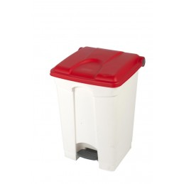 CONTAINER 45L blanc couvercle rouge
