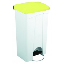 CONTAINER 90L blanc couvercle rouge