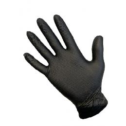 Gant NITRILE non poudré NOIR T-GRIP taille L 8,6gr 240mm Boite de 50 gants -AP