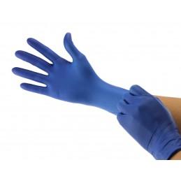 Gants jetables nitrile 3.2gr cobalt non poudrés - boîte de 100 gants