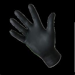 Gant nitrile non poudré Noir 4,8gr 240mm - Bte de 100 - AP-