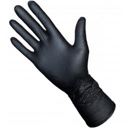 Gant Nitrile non poudré Noir 7,7gr 300 mm - Boite 50 gants